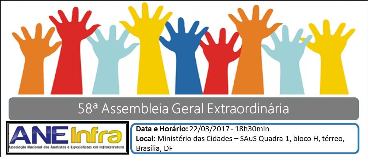 Urgente: 58ª Assembleia Geral Extraordinária